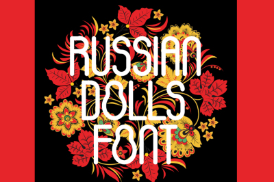 FREE Font:  Russian Dolls Typeface