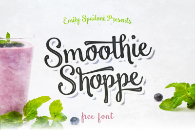 Free Font: Smoothie Shoppe Script - Personal Use Only
