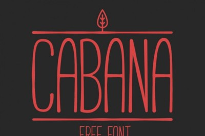 FREE Cabana font by Adrien Coquet.