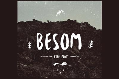 FREE Font: Besom Brush Typeface