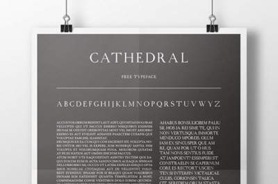 FREE Cathedral Font