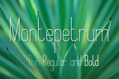 FREE Font: Montepetrum Font with 3 Weights