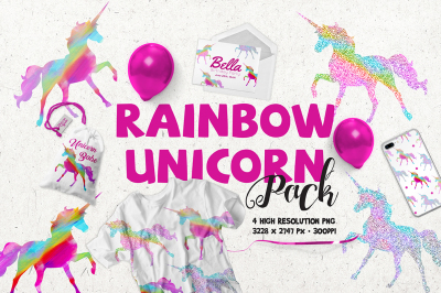 FREE Rainbow Unicorn Pack