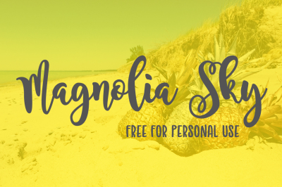 FREE Font: Magnolia Sky - Personal Use Only