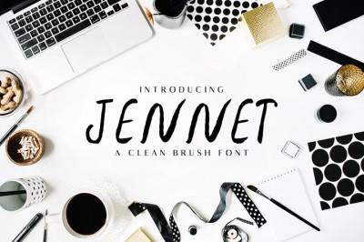 FREE Font: Jennet Brush Family