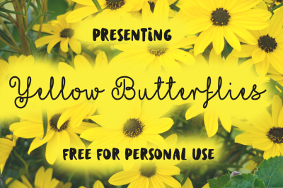 FREE Font: Yellow Butterflies - Personal Use Only