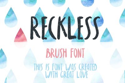 FREE Font: Reckless Brush