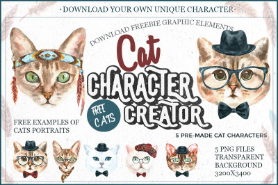 Cat Character Creator Freebie