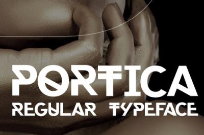 FREE Portica Regular Typeface
