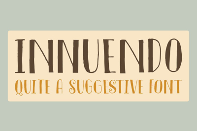 FREE Font: Innuendo - Demo Version for Personal Use
