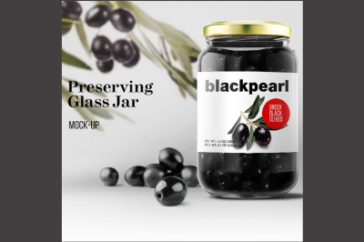 FREE Preserving Glass Jar Mock up