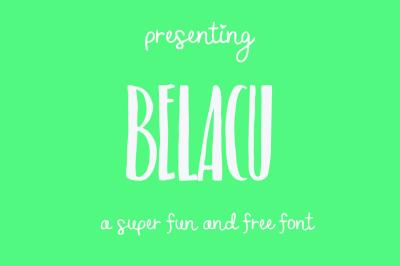 FREE Font: Belacu Typeface