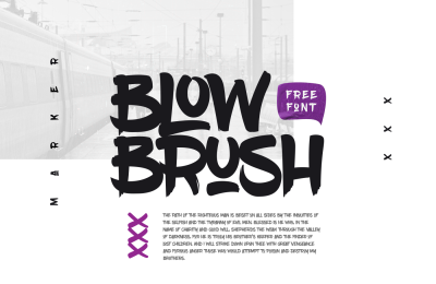 FREE Font: Blow Brush Typeface