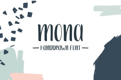 FREE Font: Mona - A Handwritten Typeface