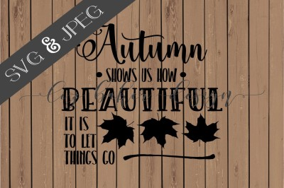 FREE SVG File: Autumn Cut File