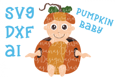 FREE SVG File: Pumpkin Baby Cut File