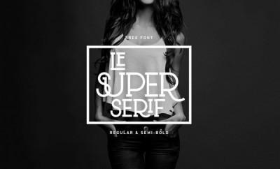 FREE Font: Le Super Serif Typeface