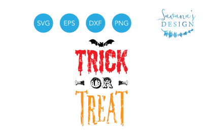 Free SVG File: Trick Trick or Treat SVG, Trick-or-Treat SVG, Free SVG, Halloween SVG, Bat SVG, Free Halloween, Free PNG
