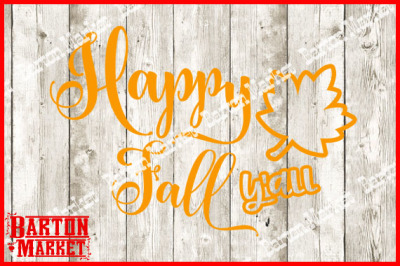 FREE SVG File: Happy Fall Y'all SVG/EPS/PNG