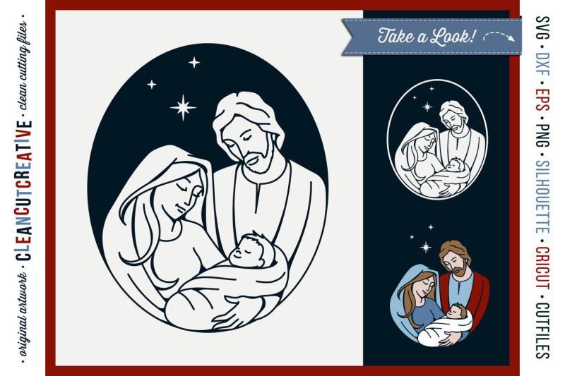 FREE Christmas Nativity Design - Holy Night - Baby Jesus By TheHungryJPEG