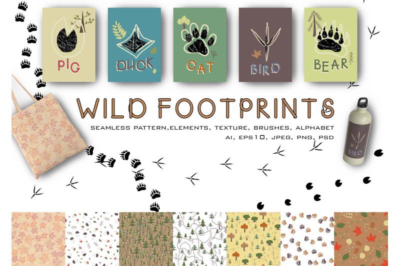 FREE Wild Footprints By TheHungryJPEG