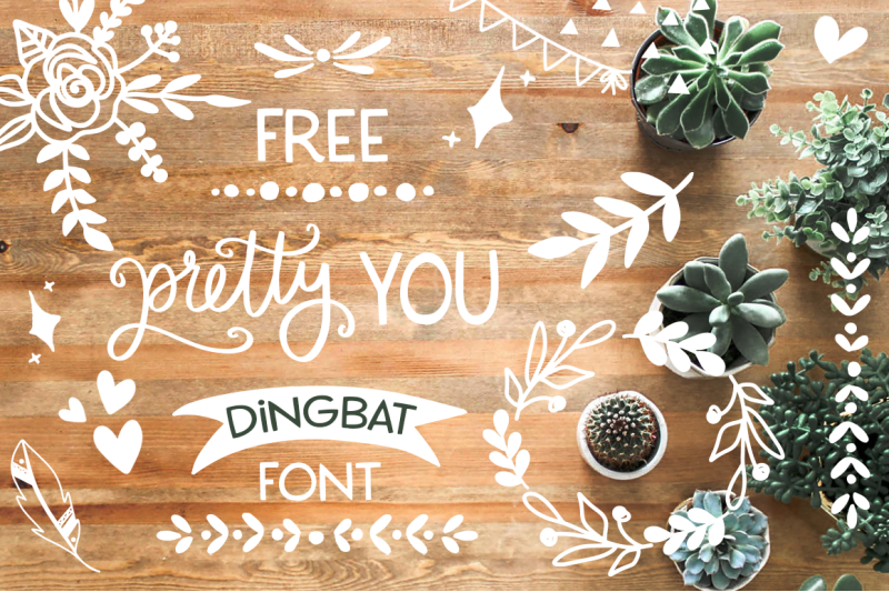 Download FREE Pretty You Dingbat Font By TheHungryJPEG ...