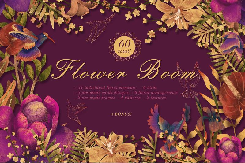 FREE Flower Boom By TheHungryJPEG
