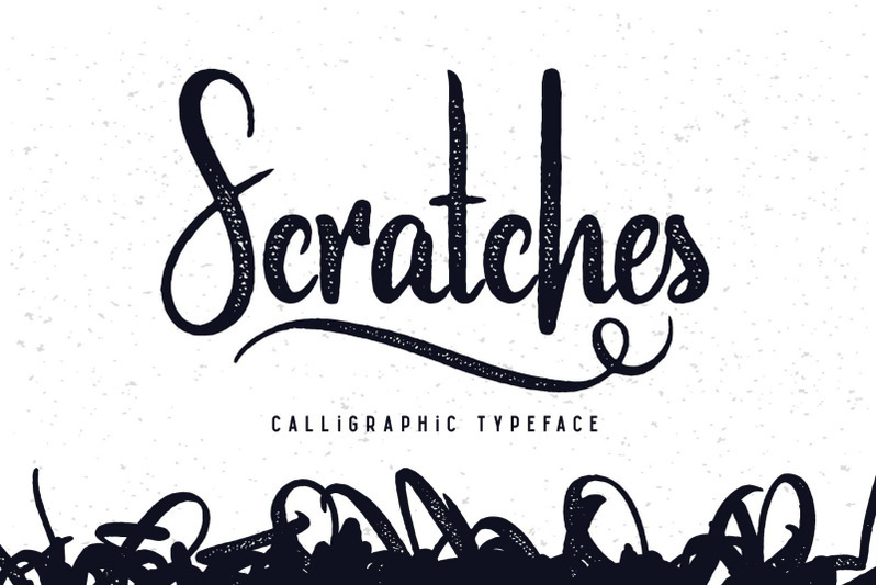 Scratches Calligraphic Font