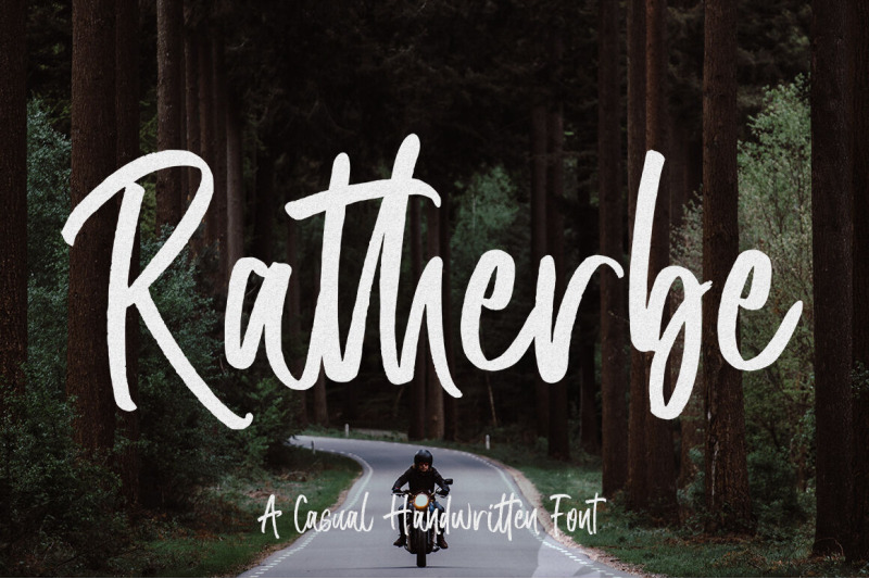 FREE Ratherbe Font By TheHungryJPEG