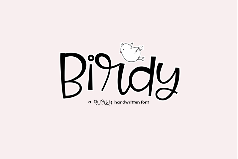 Birdy A Quirky Handwritten Font for Free