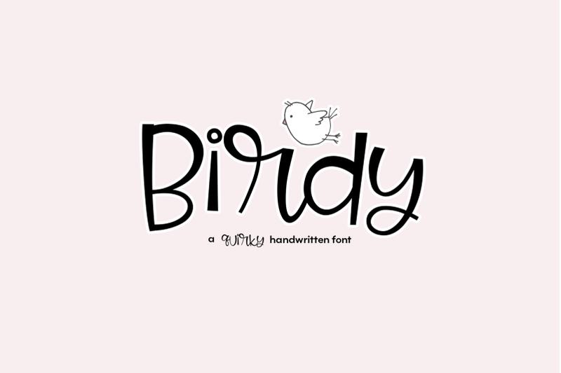 Birdy A Quirky Handwritten Font