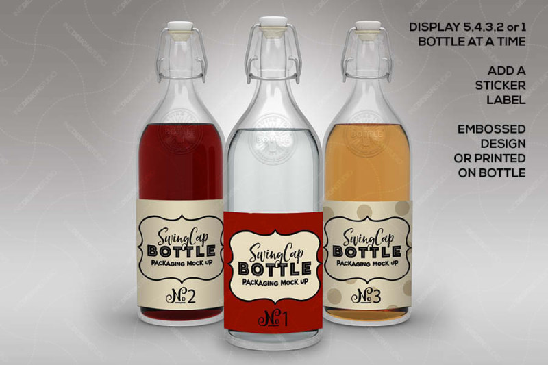 Download Clear Glass Vodka Bottle Mockup Yellowimages