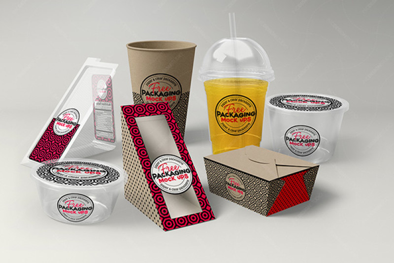 Food Packaging Mockup Free Psd